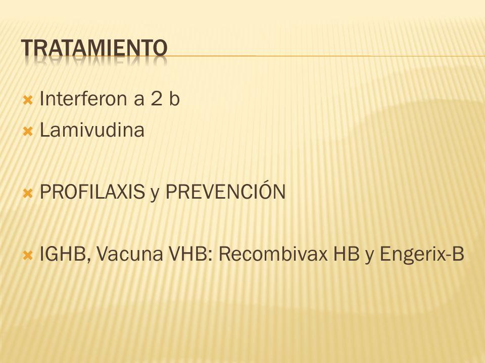 tratamiento Interferon a 2 b Lamivudina PROFILAXIS y PREVENCIÓN