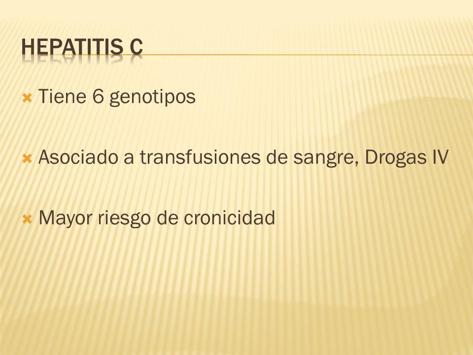 Hepatitis c Tiene 6 genotipos