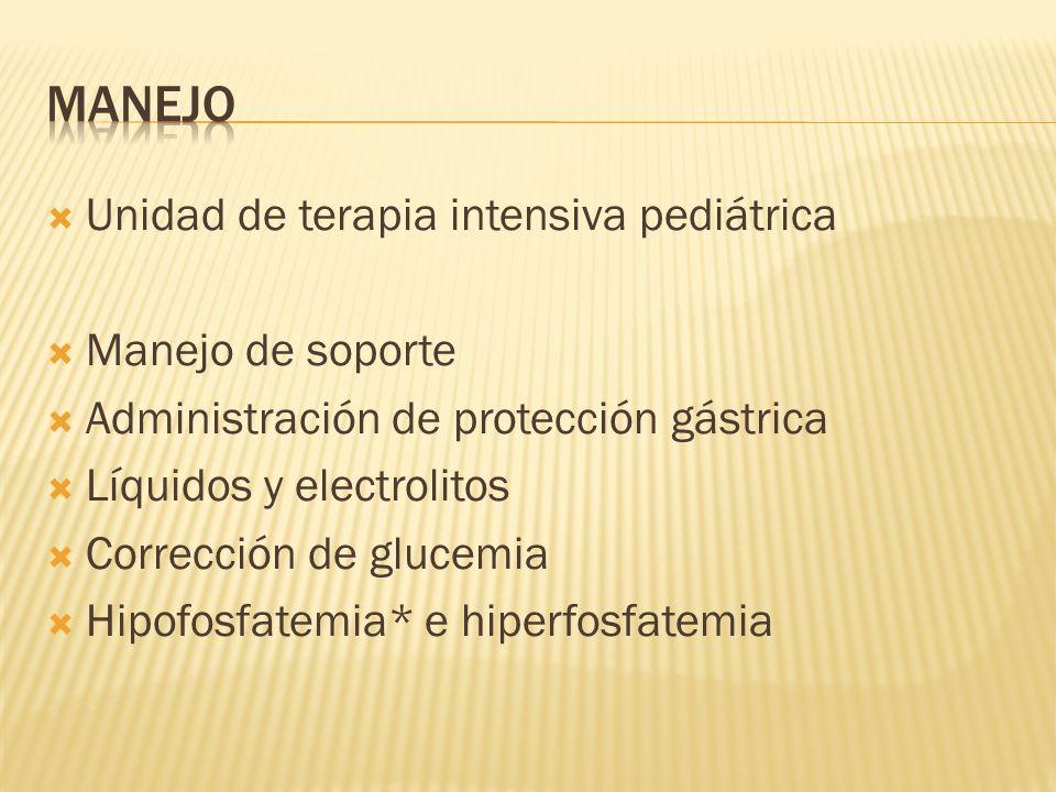 manejo Unidad de terapia intensiva pediátrica Manejo de soporte