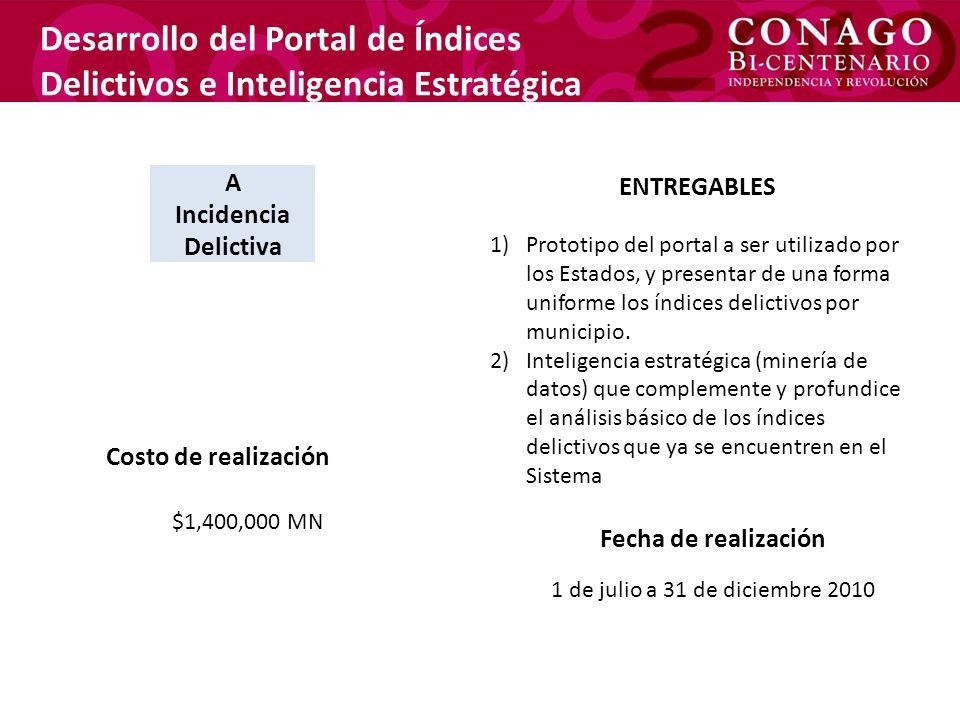Desarrollo del Portal de Índices Delictivos e Inteligencia Estratégica
