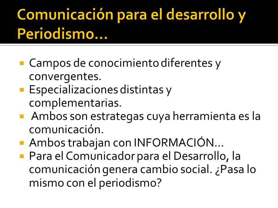 Comunicación para el desarrollo y Periodismo…