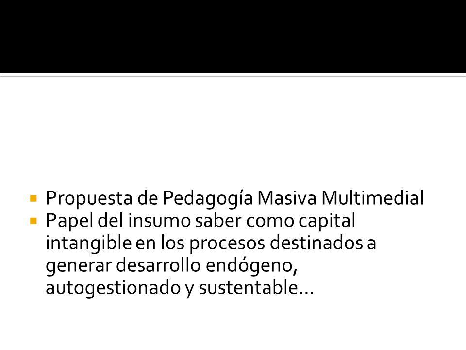 Propuesta de Pedagogía Masiva Multimedial