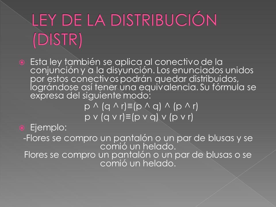 LEY DE LA DISTRIBUCIÓN (DISTR)