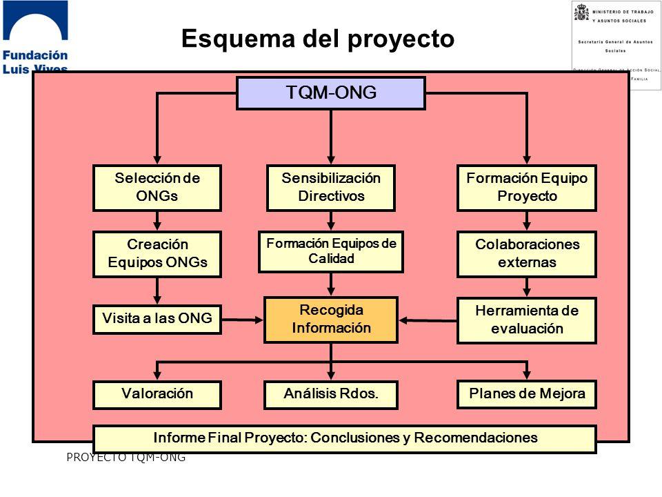 Esquema del proyecto TQM-ONG Selección de ONGs