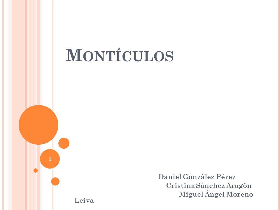 Montículos Daniel González Pérez Cristina Sánchez Aragón