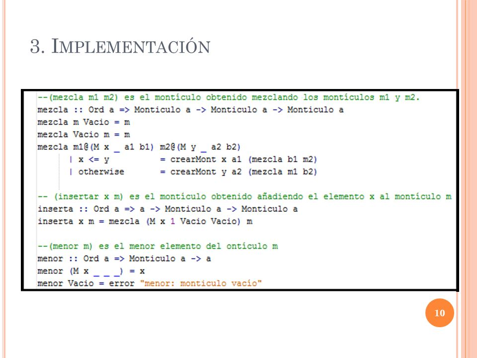 3. Implementación