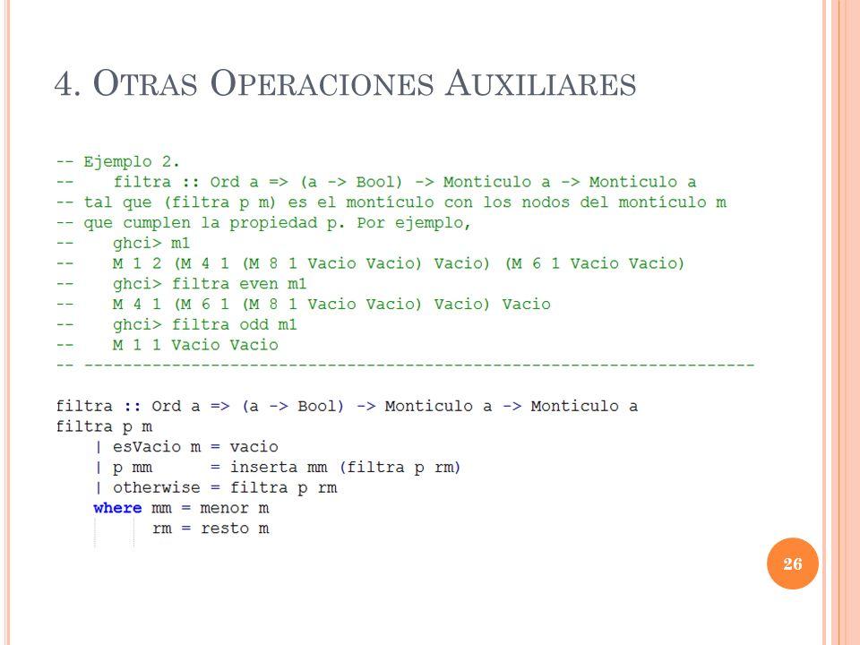 4. Otras Operaciones Auxiliares