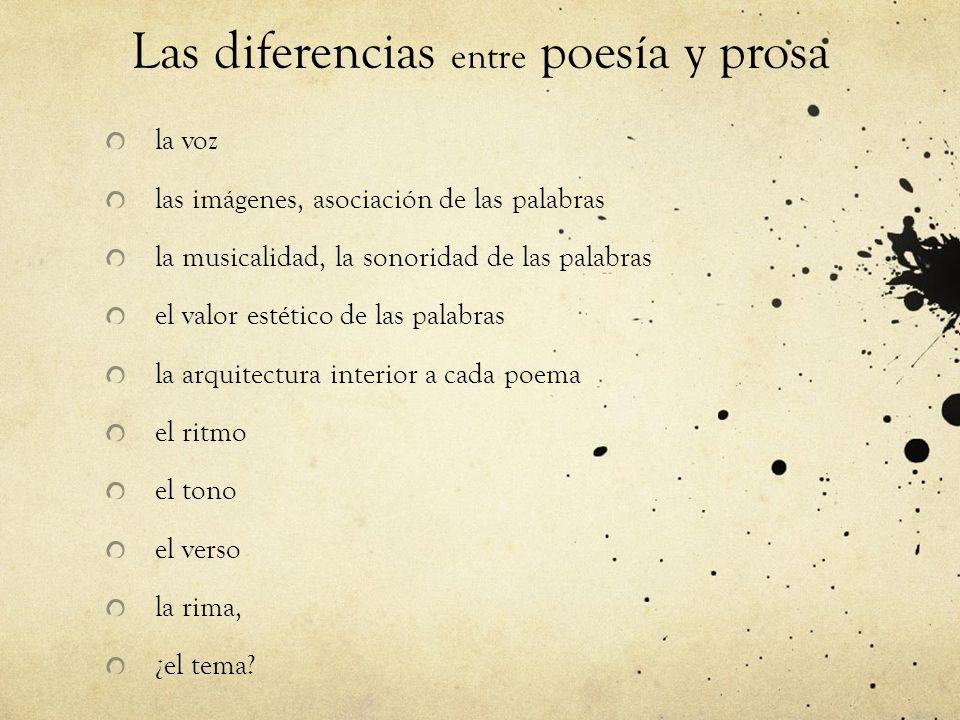 Las diferencias entre poesía y prosa