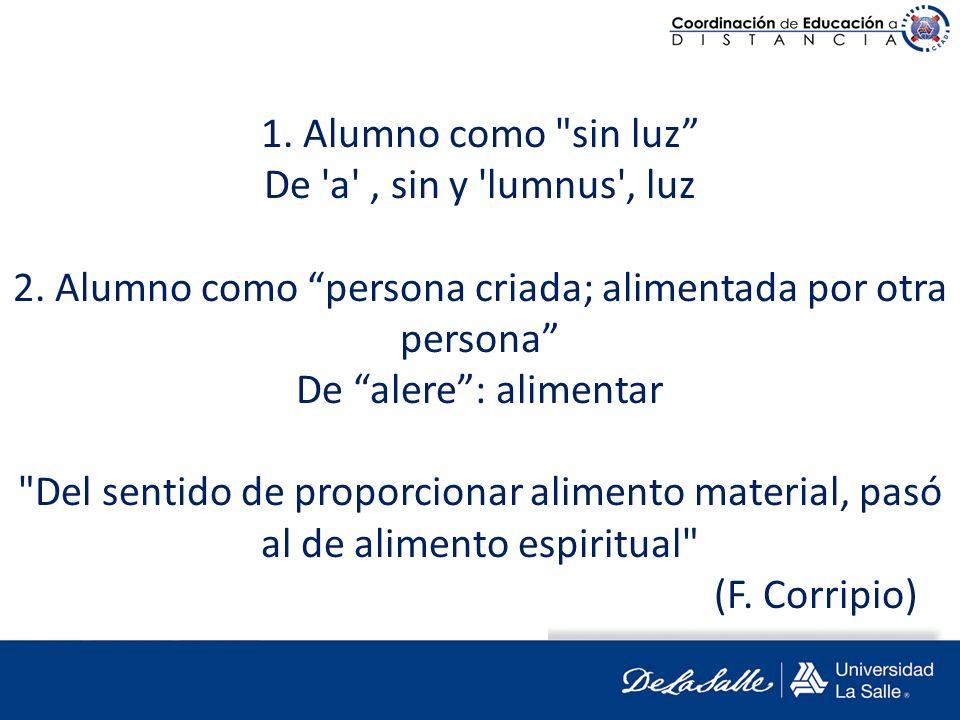 1. Alumno como sin luz De a , sin y lumnus , luz 2