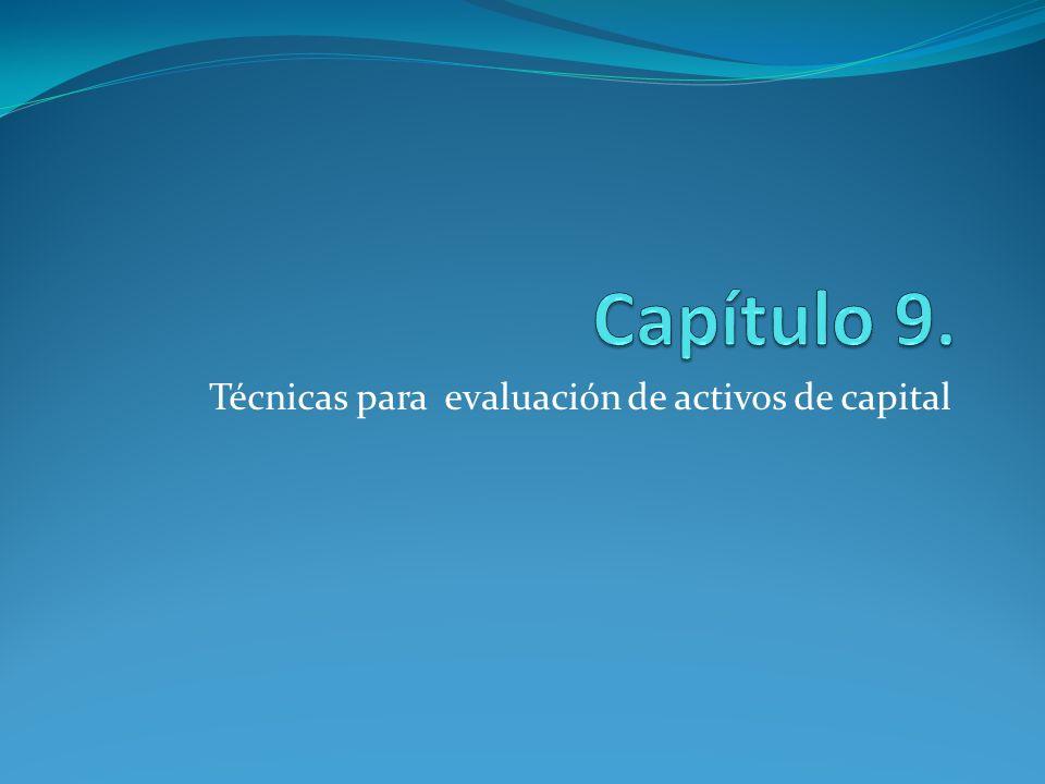 Técnicas para evaluación de activos de capital