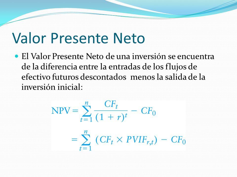Valor Presente Neto