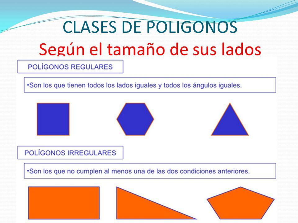 CLASES DE POLIGONOS Según el tamaño de sus lados
