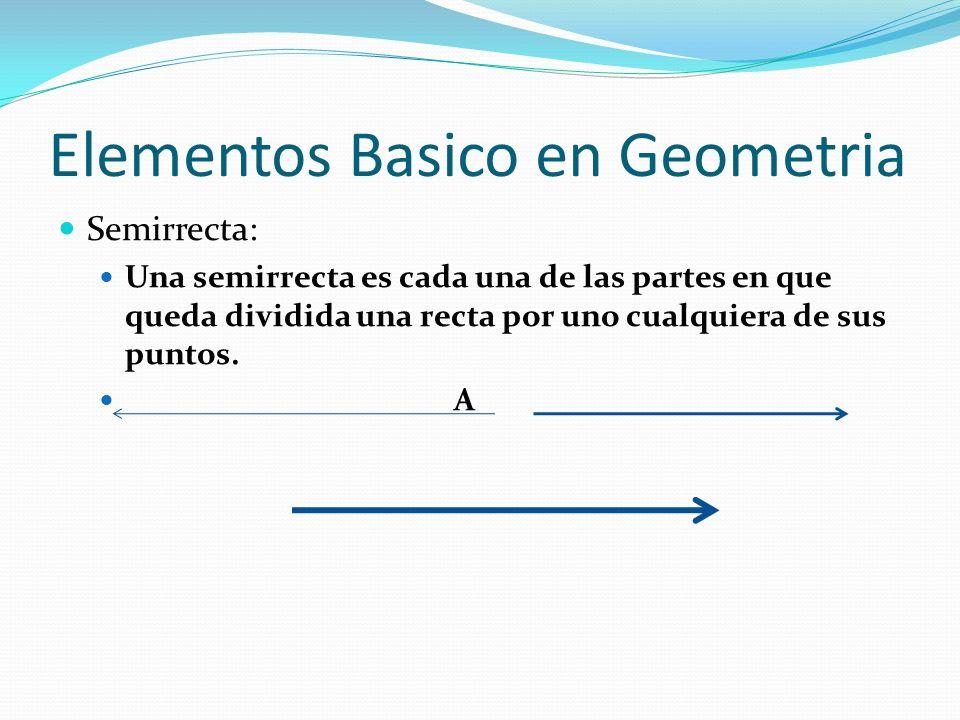 Elementos Basico en Geometria