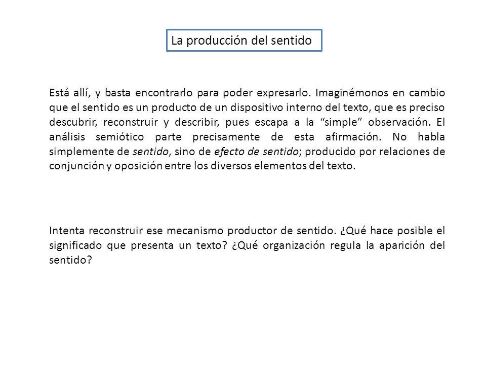 La producción del sentido