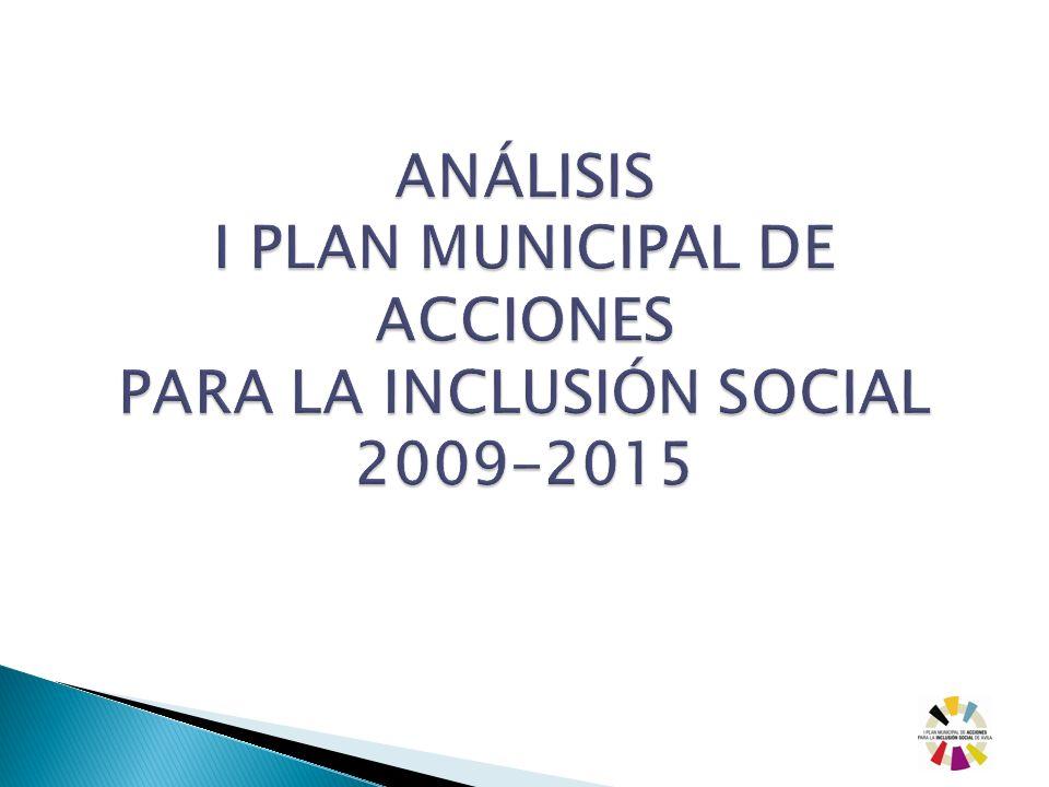 ANÁLISIS I PLAN MUNICIPAL DE ACCIONES PARA LA INCLUSIÓN SOCIAL 2009-2015