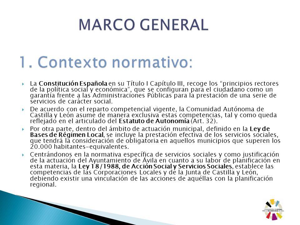 MARCO GENERAL 1. Contexto normativo:
