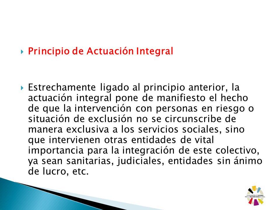 Principio de Actuación Integral