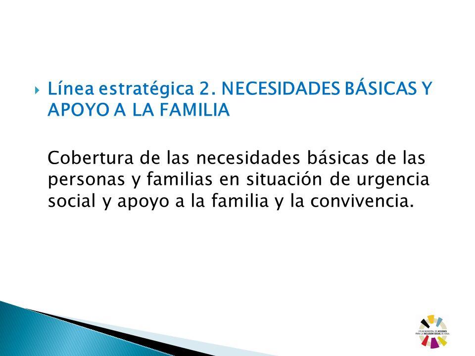 Línea estratégica 2. NECESIDADES BÁSICAS Y APOYO A LA FAMILIA