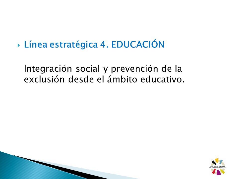 Línea estratégica 4. EDUCACIÓN