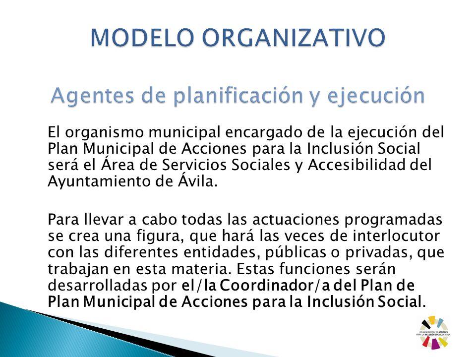 MODELO ORGANIZATIVO Agentes de planificación y ejecución