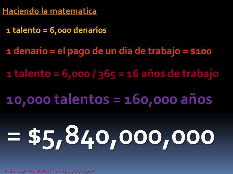 Haciendo la matematica