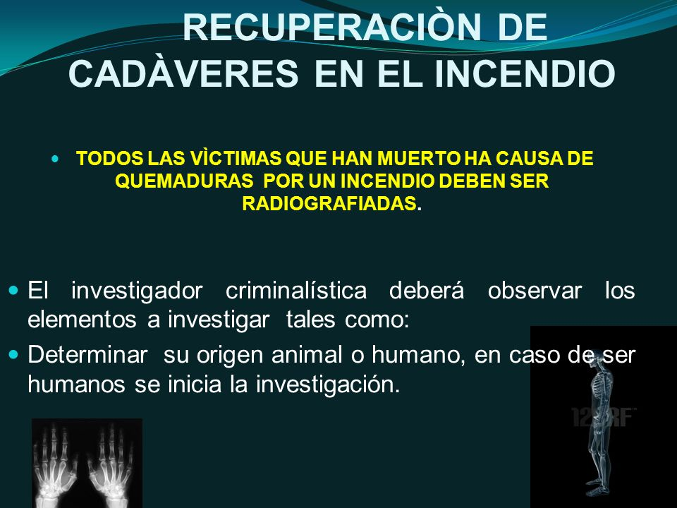 RECUPERACIÒN DE CADÀVERES EN EL INCENDIO