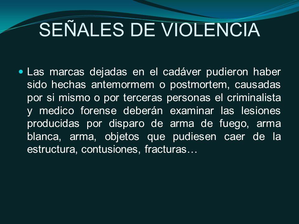 SEÑALES DE VIOLENCIA