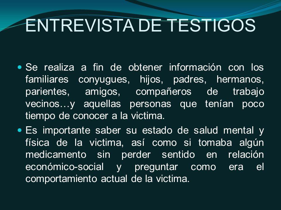 ENTREVISTA DE TESTIGOS
