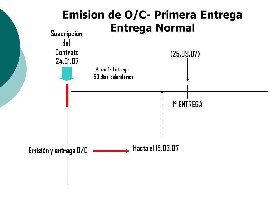 Emision de O/C- Primera Entrega