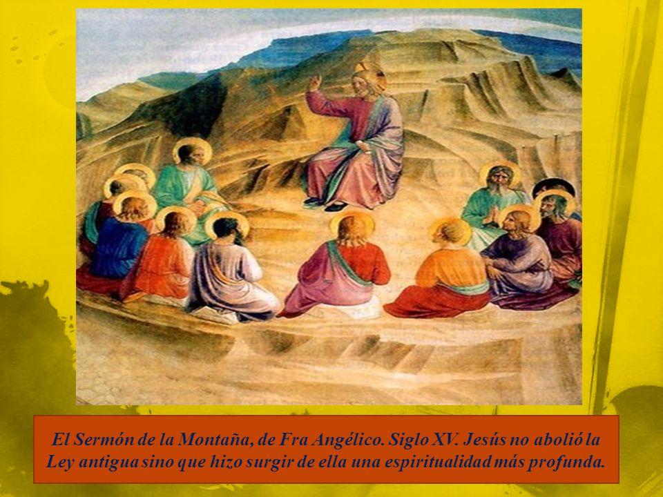 El Sermón de la Montaña, de Fra Angélico. Siglo XV