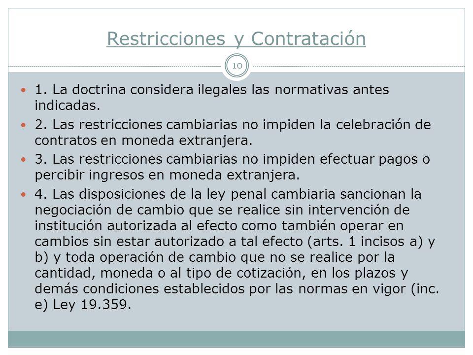 Restricciones y Contratación