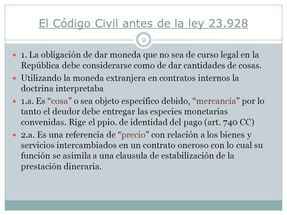 El Código Civil antes de la ley 23.928