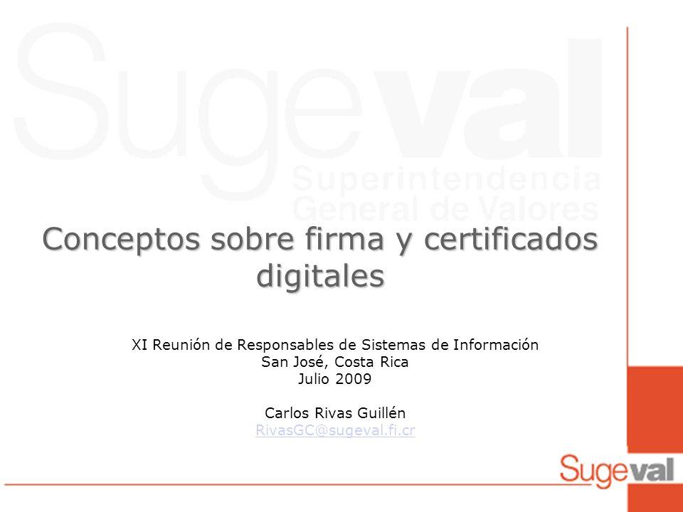 Conceptos sobre firma y certificados digitales