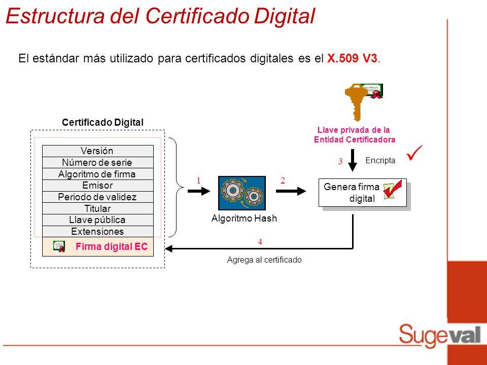 Estructura del Certificado Digital