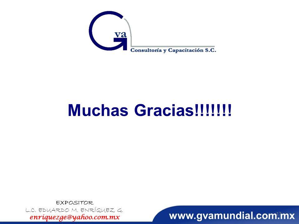 EXPOSITOR L.C. EDUARDO M. ENRÍQUEZ G. enriquezge@yahoo.com.mx