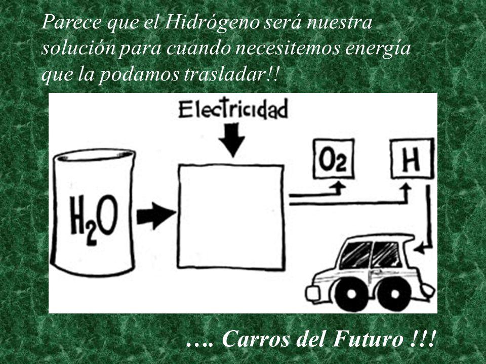 Parece que el Hidrógeno será nuestra solución para cuando necesitemos energía que la podamos trasladar!!