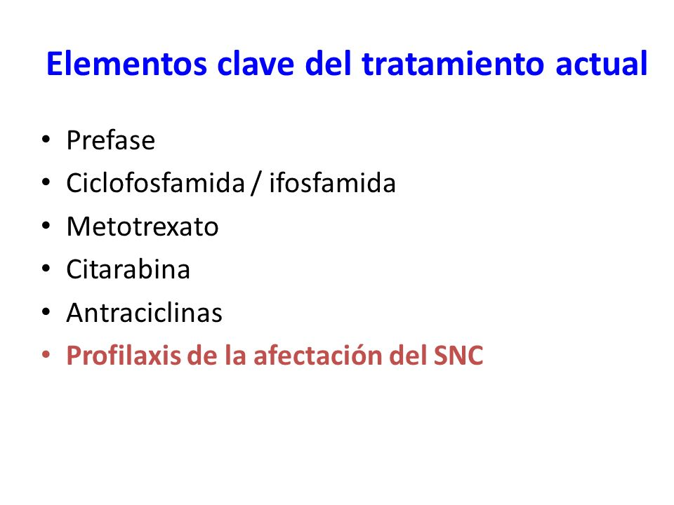 Elementos clave del tratamiento actual
