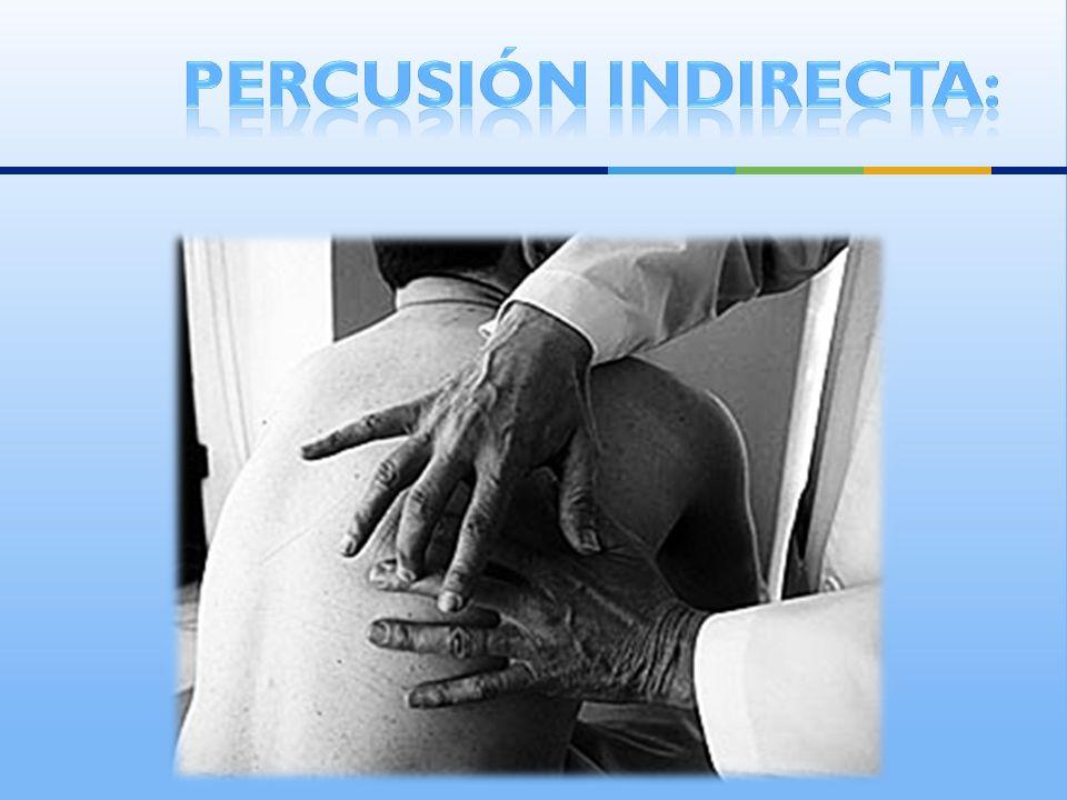 Percusión indirecta: