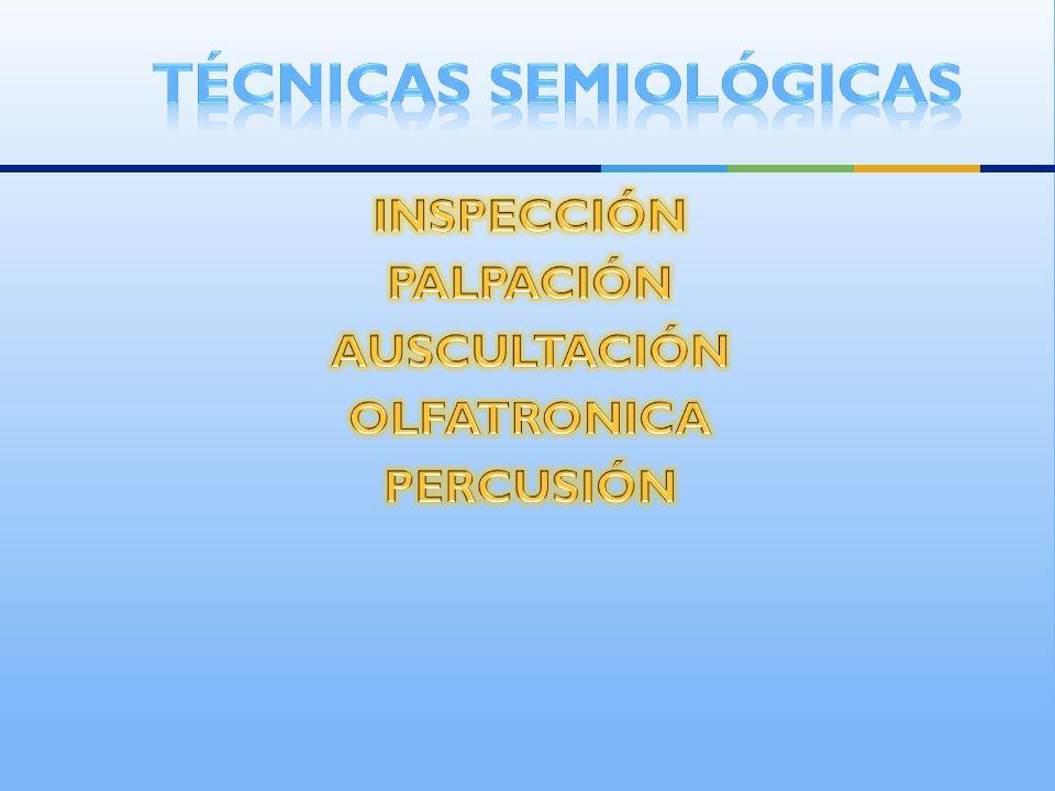 Técnicas semiológicas