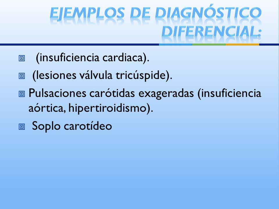 Ejemplos de diagnóstico diferencial: