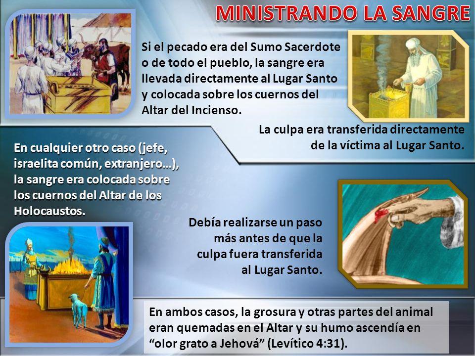 MINISTRANDO LA SANGRE