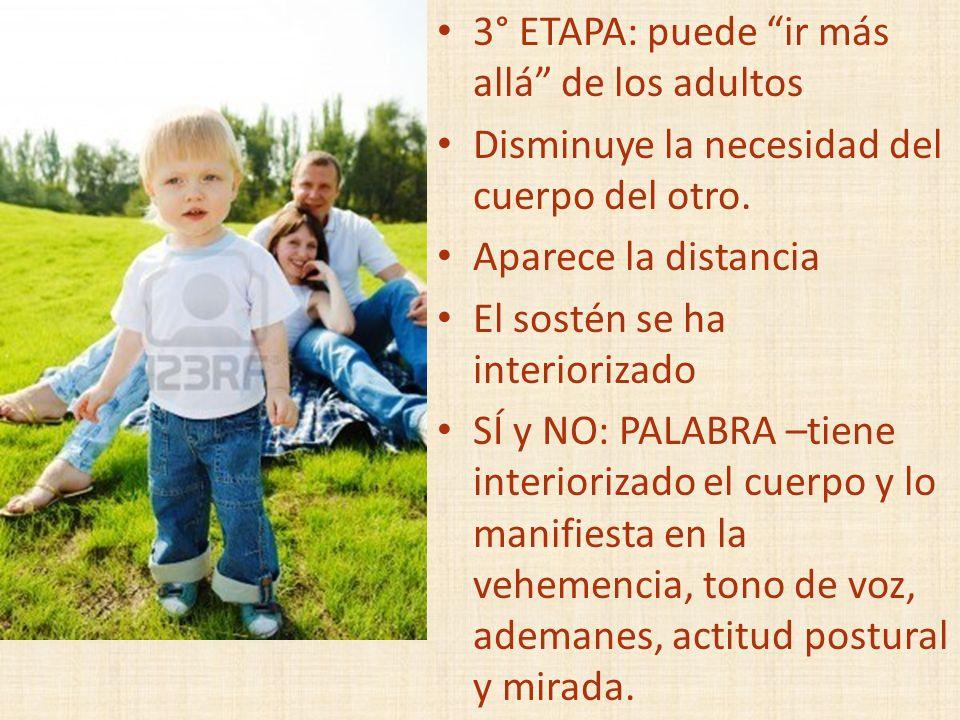 3° ETAPA: puede ir más allá de los adultos