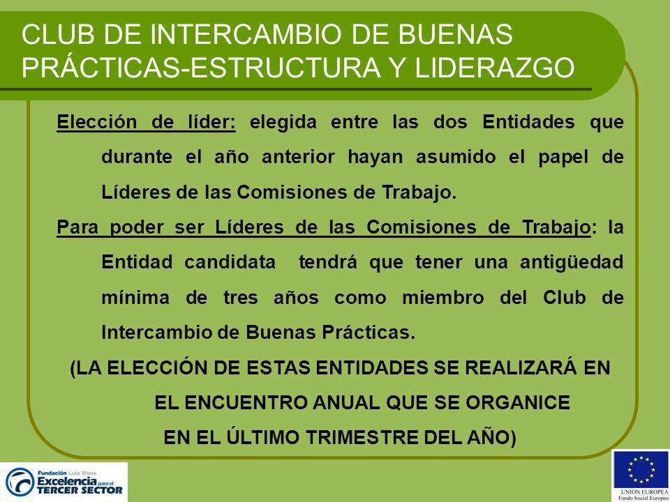 CLUB DE INTERCAMBIO DE BUENAS PRÁCTICAS-ESTRUCTURA Y LIDERAZGO