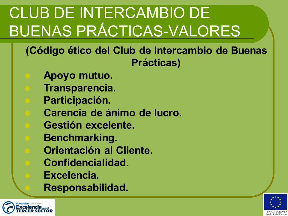CLUB DE INTERCAMBIO DE BUENAS PRÁCTICAS-VALORES