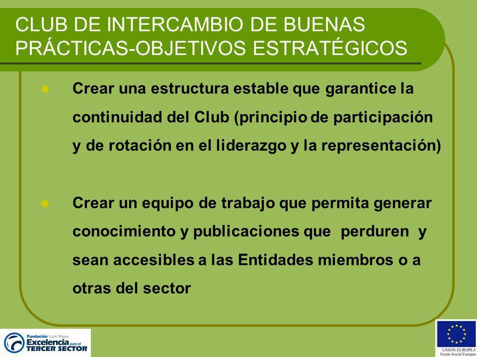 CLUB DE INTERCAMBIO DE BUENAS PRÁCTICAS-OBJETIVOS ESTRATÉGICOS