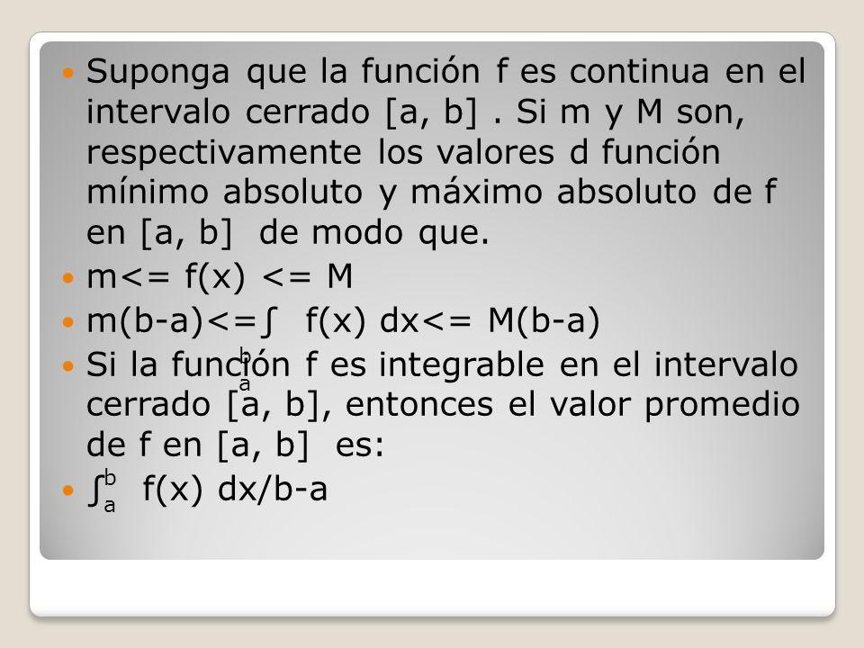 m(b-a)<=∫ f(x) dx<= M(b-a)