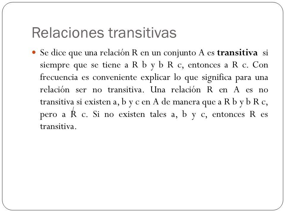 Relaciones transitivas