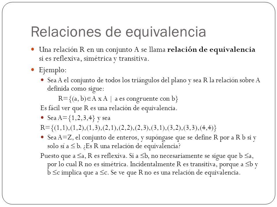Relaciones de equivalencia