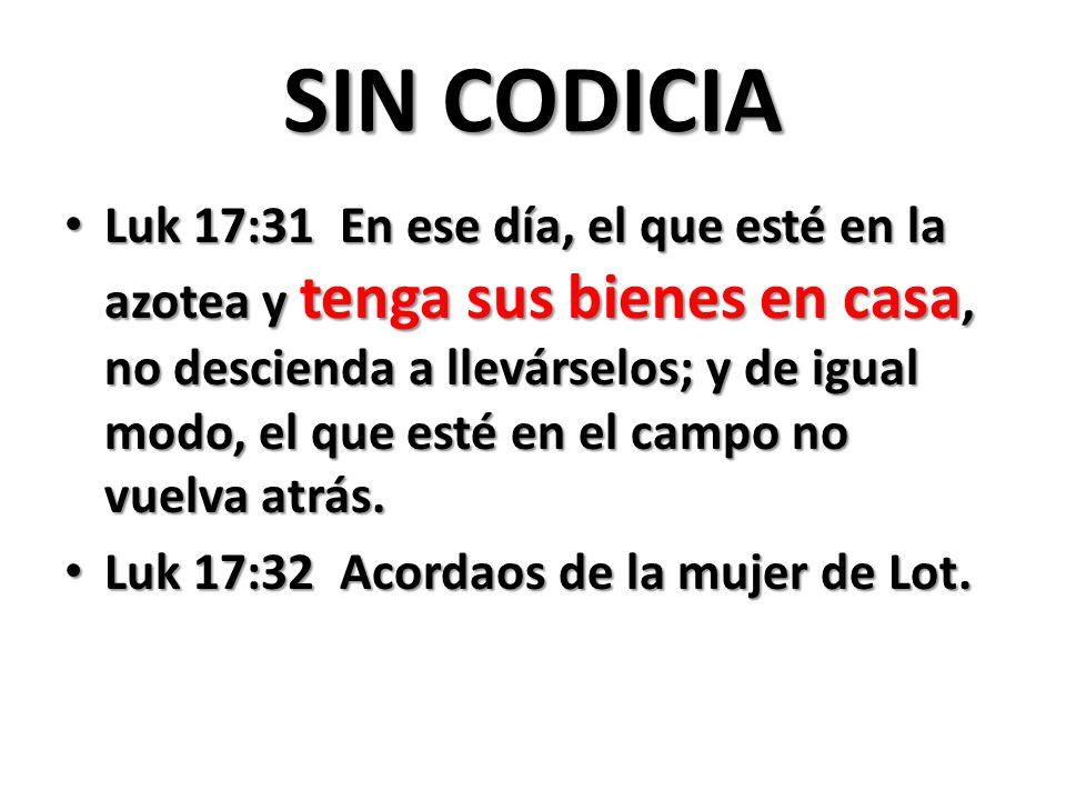 SIN CODICIA