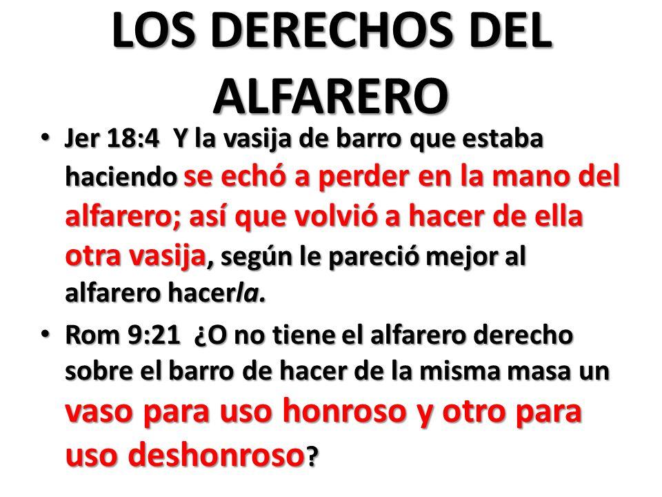 LOS DERECHOS DEL ALFARERO